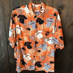 Reyn Spooner San Francisco Giants Baseball Hawaiian Button Down Shirt Mens XXL