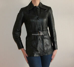 genuine premium leather womens girls soft western fashion handmade black jacket
