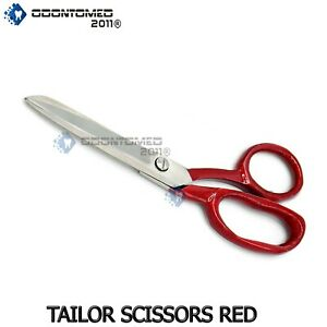 7quot; STAINLESS STEEL DRESSMAKER SCISSORS SHEARS Tailoring Fabric Sewing RED HANDLE $7.19