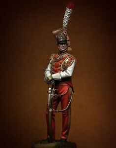 Tin soldier museum Trumpeter 2nd Rgt. Red Lancers of Imperial Guard 90mm