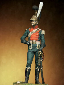 Tin soldier Museum Officer of Lancers Light Cavalry Napoleonic Wars 75mm