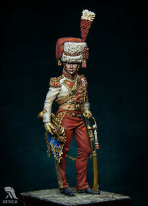 Trumpeter Major Red Lancers 75mm Painted Tin Toy Soldier Miniature  Museum