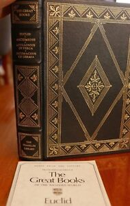 EUCLID ARCHEMEDES Franklin Library Great Books Western World w ED Notes