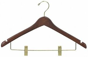 Box of 25 The Great American Hanger Company Walnut Combo Hanger Clips