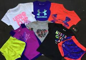 GIRLS SIZE 4T4 UNDER ARMOUR LOT OF 6 SPRINGSUMMER SHORTS OUTFITS NWT