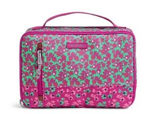 VERA BRADLEY~Large Blush and Brush Makeup Case~DITSY DOT~Brand New wTags!