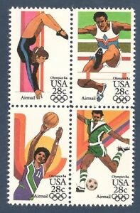 C101-C104 Summer Olympic Games Block Of 4 Mintnh (Free Shipping)