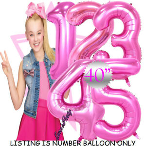 40quot; 30quot; JOJO SIWA UNICORNS FOIL NUMBERS LETTERS BIRTHDAY PARTY BALLOONS PRINCESS $3.99