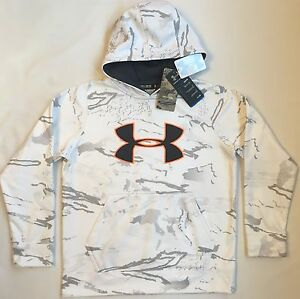 NWT youth Boys medium UNDER ARMOUR hooded sweatshirt hoodie RIDGE REAPER camo