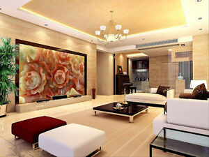 3D Red Flower Marble Pattern 23 Wall Paper Wall Print Decal Wall AJ WALLPAPER CA