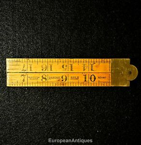 Antique Boxwood Folding Ruler 2 feet 24quot; No. 1167 Rabone amp; Sons Made In England $60.00