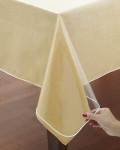 Classic Crystal Clear Tablecloth Cover Vinyl Table Protector Vinyl Table Cover