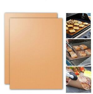 2Pcs/Pack Copper Grill Bake Mats Outdoor BBQ Barbecue Utensil Tools