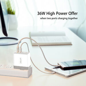 EUUS Dual USB 3.0 12-Port Fast Charger Phone Wall Power Adapter For iPhone MO