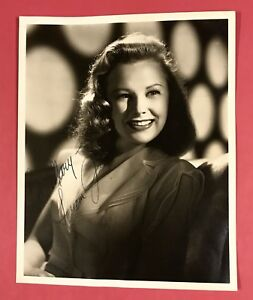 "Hollywood Actress June Allyson Hand Signed Inscribed 8""x10"" Original Photo Nice!"