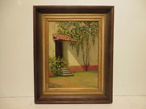 12x9 original 1940 oil painting by Rolla Taylor of