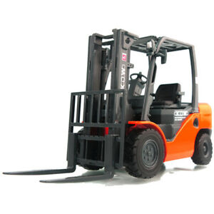 1:20 Forklift Truck Construction Model Metal Diecast Toy Vehicle Orange Kid Gift