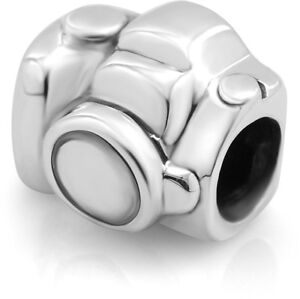 925 Sterling Silver Camera Bead Charm Fit Major Brand Bracelet