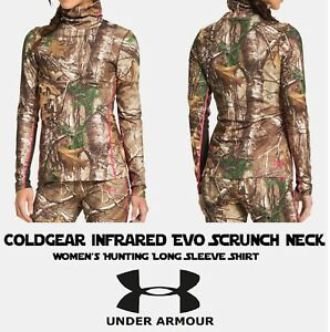 Under Armour EVO Scrunch Neck Hunting Compression Shirt Womens Large L NEW + TAG