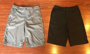 Boys Under Armour Golf Shorts Lot Black Gray Youth Large Lot