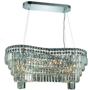 2019 Maxime Colloection Chandelier L:32 in W:16in H:13in Lt:14 Chrome Finish ...