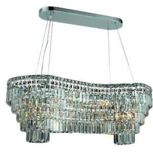 2019 Maxime Colloection Chandelier L:40 in W:16in H:13in Lt:14 Chrome Finish ...