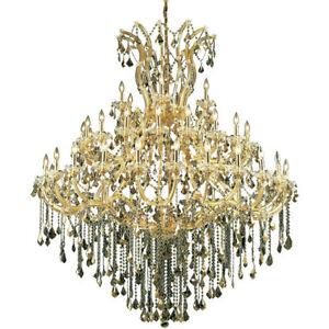 2800 Maria Theresa Collection Chandelier D:60in H:72in Lt:49 Gold Finish (Swa...