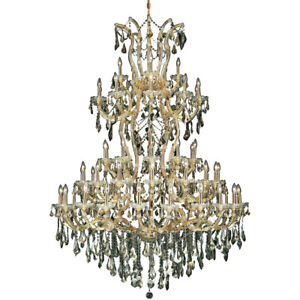 2801 Maria Theresa Collection Chandelier D:54in H:72in Lt:61 Gold Finish (Swa...