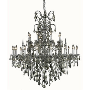 9724 Athena Collection Chandelier D:44in H:47in Lt:24 Pewter Finish (Royal Cu...