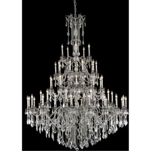 9255 Rosalia Collection Chandelier D:64in H:84in Lt:55 Pewter Finish (Swarovs...
