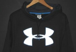 UNDER ARMOUR Men's Storm Fleece Big Logo Hoodie Sweatshirt coldgear Gray 2XL XXL