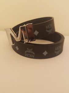 men designer M buckle  leather belt adjustable gg