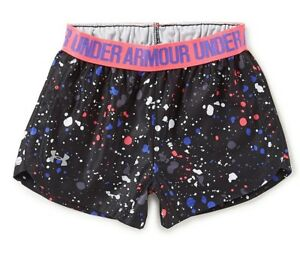 Under Armour Toddler Girl's Splatter Print Play Up Shorts Size 2T