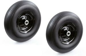 Outdoor Heavy Duty Utility 13in No Flat Wheelbarrow Replacement Wheel 2Pack New