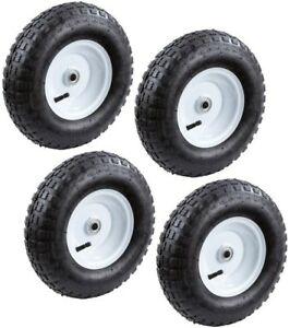 Replacement Wheel Inflatable Utility Cart Wagon 13in Pneumatic Tire 4Pack New