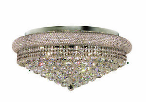 1800 Primo Collection Flush Mount D28in H13in Lt:15 Chrome Finish (Royal Cut ...