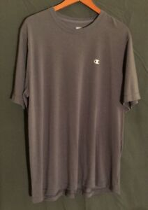 Champion Mens Workout Shirt XL Double Dry Gray Athletic Fitness Exercise