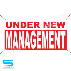 Under New Management Banner Business Advertising Sign Banner $39.95