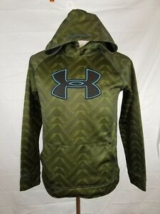Under Armour boys youth XL green long sleeve hoodie sweat shirt