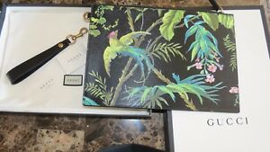Gucci Tropical Bird Print Pouch Limited Edition Sold out 2016
