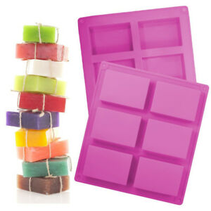Flexible Durable Silicone Soap Molds Loaf Rectangle Square Oval Circle Mold