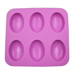 6 Cavity Dome Egg Silicone Soap Mold Flexible Durable Nontoxic use up to 40 F