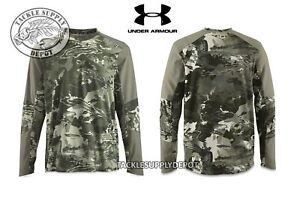 Under Armour CoolSwitch Thermocline Hybrid Crew Shirt Green Camo Olive - Pick