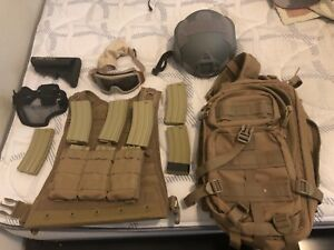 Airsoft Gear (Mags Backpack Chest Rig Helmet Goggles Metal Mesh Mask)