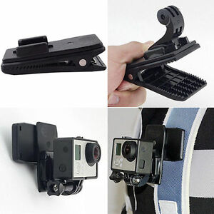 360° Rotary Quick Release Backpack Hat Clip Clamp Mount For GoPro RS