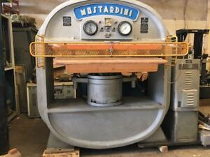 Mostardini Leather press 331 Ton Ironing and embossing press