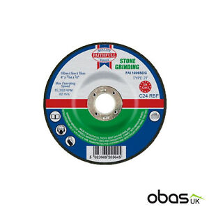 10 x Stone Grinding Disc Depressed Centre Blade 100mm x 6mm