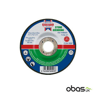 10 x Stone Grinding Disc Depressed Centre Blade 115mm x 6mm