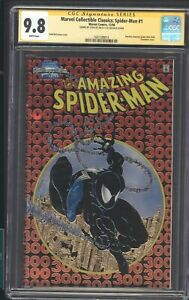COLLECTIBLE CLASSICS SPIDER MAN 1 CGC 9.8 SS STAN LEE WHITE PAGES asm 300