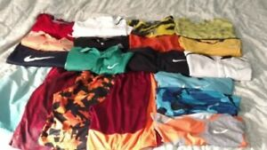Lot of 19 Boys Tennis Clothes.ShirtsShorts Size Youth L-Men's XS.Nike Addidas